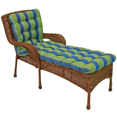 Haliwall Outdoor Chaise Lounge Cushion Fabric: Day Stripe
