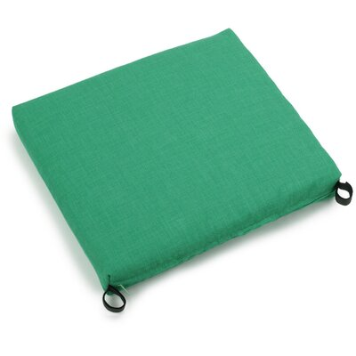 Solid Outdoor Adirondack Chair Cushion Fabric: Emerald