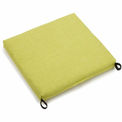 Solid Outdoor Adirondack Chair Cushion Fabric: Lime