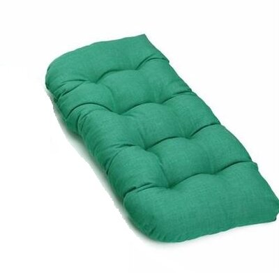 Outdoor Loveseat Cushion Fabric: Emerald