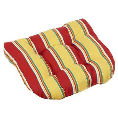 Blazing Needles All-Weather UV Resistant U-shaped Outdoor Chair Cushions (Set of 2) - Color: Tropique Raven at Sears.com