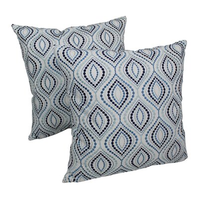 Indian Ogee Hand-embroidered Cotton Throw Pillow
