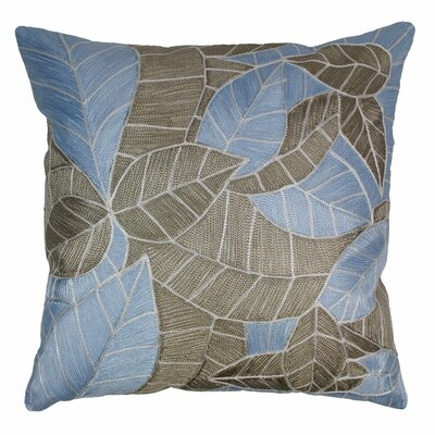 Indian Picasso Foliage Hand-embroidered Cotton Throw Pillow