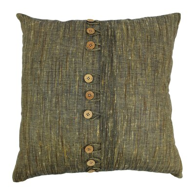 Nine Button Throw Pillow Color: Sage