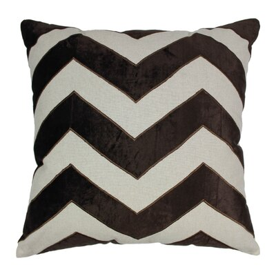 Indian Chevron Cotton Throw Pillow Color: Brown / Natural