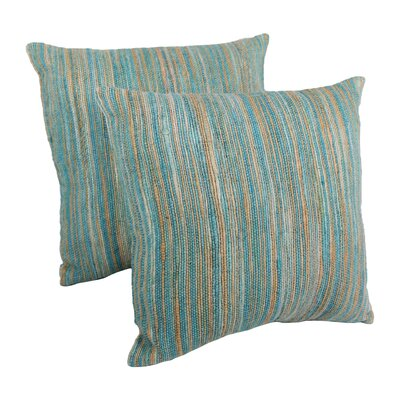 Striped Throw Pillow Color: Blue