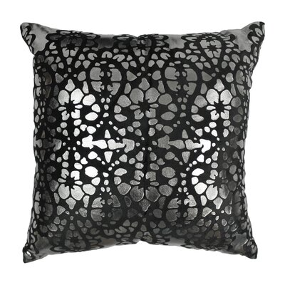 Paisley Scaled Cotton Throw Pillow Color: Black / Silver