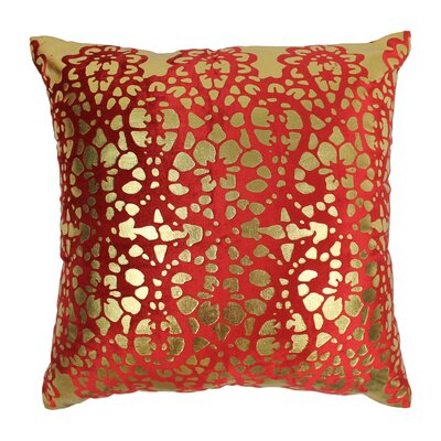 Paisley Scaled Cotton Throw Pillow Color: Crimson Velvet / Gold