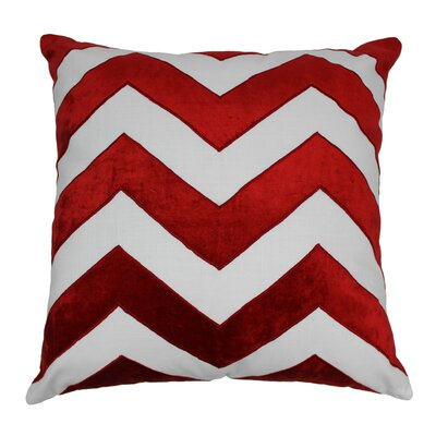 Indian Chevron Cotton Throw Pillow Color: Crimson / Ivory