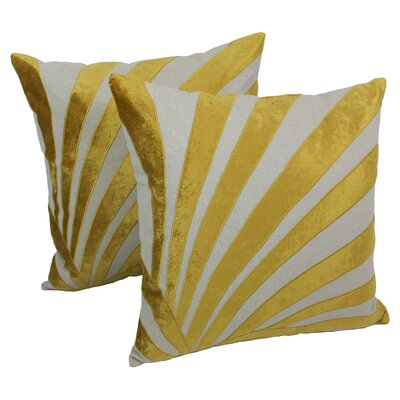 Indian Sun Ray Cotton Throw Pillow