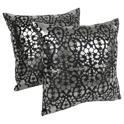 Paisley Scaled Throw Pillow Color: Black / Silver