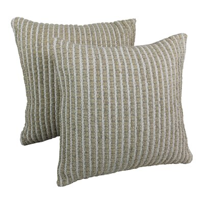 Rope Corded Throw Pillow Color: White / Beige