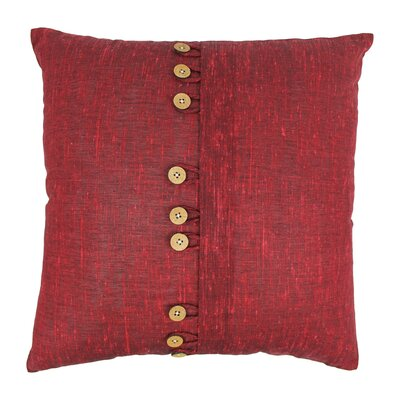 Nine Button Throw Pillow Color: Burgundy