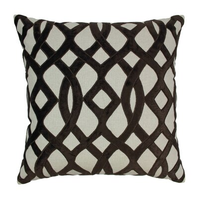 Indian Trellis Cotton Throw Pillow Color: Brown / Natural