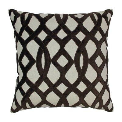 Indian Trellis Cotton Throw Pillow Color: Brown / Natural