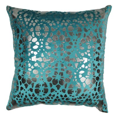 Paisley Scaled Cotton Throw Pillow Color: Teal / Silver