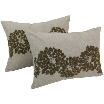 Floral Pattern Chambrey Cotton Throw Pillow
