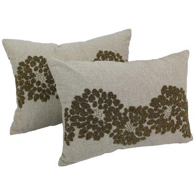 Floral Pattern Chambrey Cotton Throw Pillow