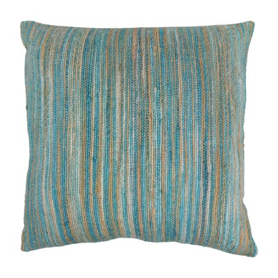 Striped Throw Pillow Color: Light Blue