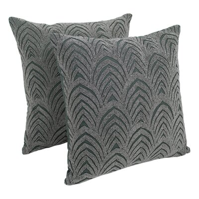 Arching Fans Cotton Throw Pillow Color: Silver / Grey