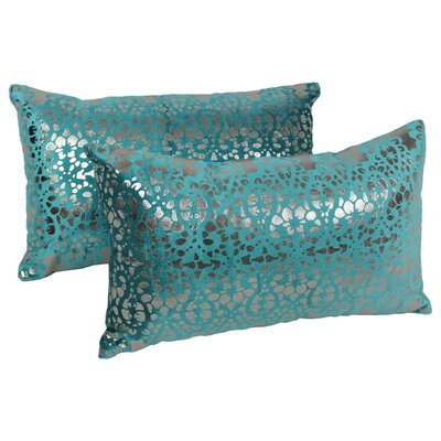 Paisley Scaled Throw Pillow Color: Teal / Silver