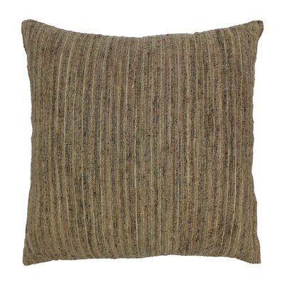 Striped Throw Pillow Color: Natural