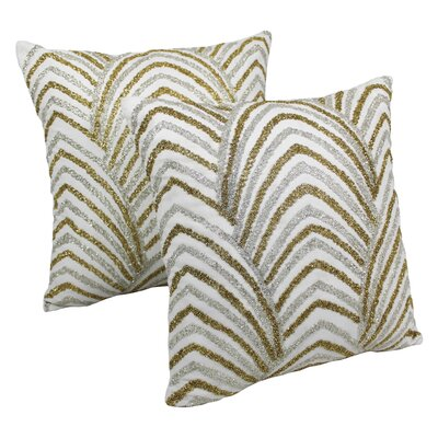 Arching Fans Cotton Throw Pillow