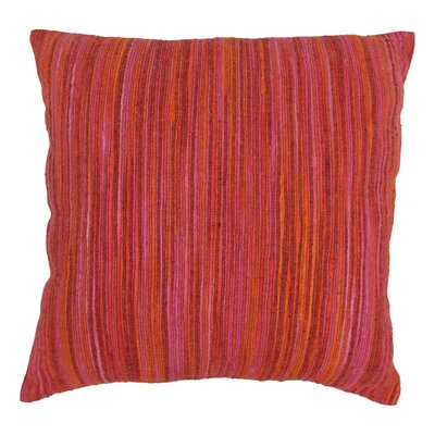 Striped Throw Pillow Color: Red