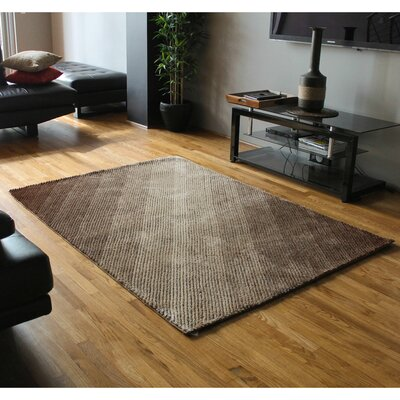 Light Rays Gradated Shag Beige/Brown Area Rug