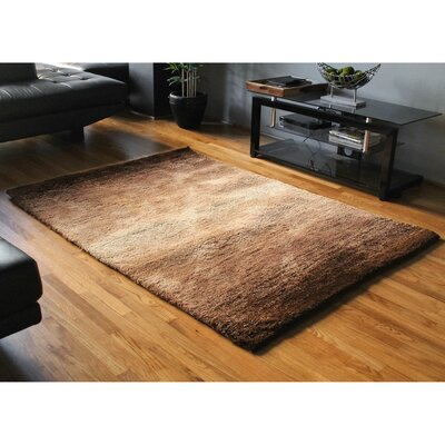 Fading Light Gradated Shag Beige/Brown Area Rug