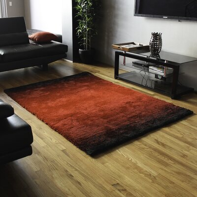 Fading Light Gradated Shag Red/Black Area Rug