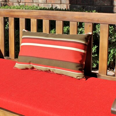 Rectangular Outdoor Lumbar Pillow Color: Blue/Green Stripe