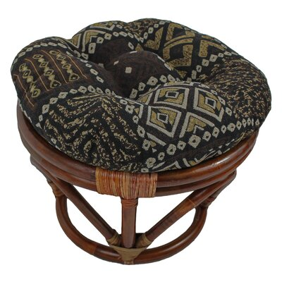 Papasan Ottoman Cushion Fabric: Congo