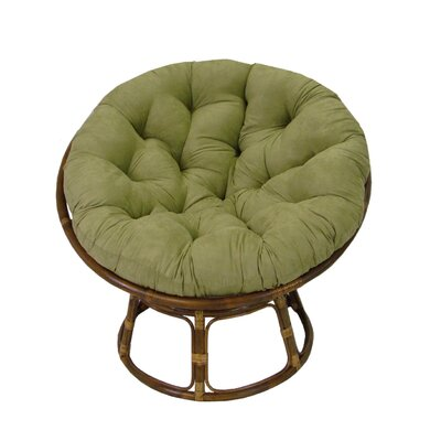 Papasan Lounge Chair Cushion Fabric: Sage, Size: 52