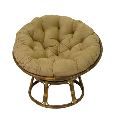 Papasan Lounge Chair Cushion Fabric: Java, Size: 52 W x 52 D