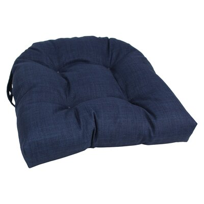 Outdoor Adirondack Chair Cushion Fabric: Azul
