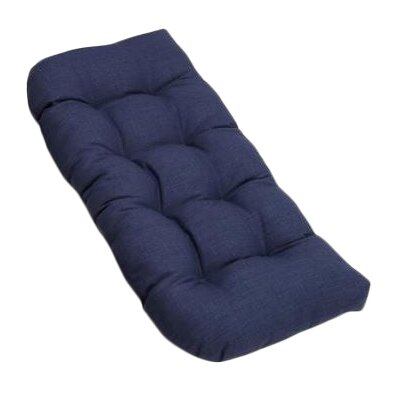 Outdoor Loveseat Cushion Fabric: Azul