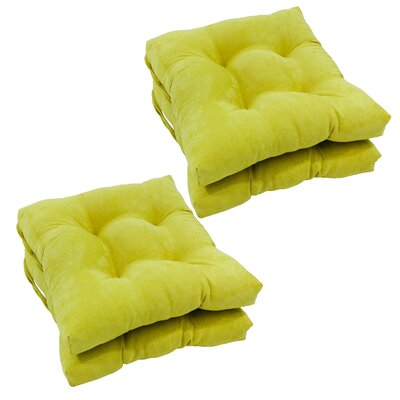 Outdoor Dining Chair Cushion Color: Mojito Lime
