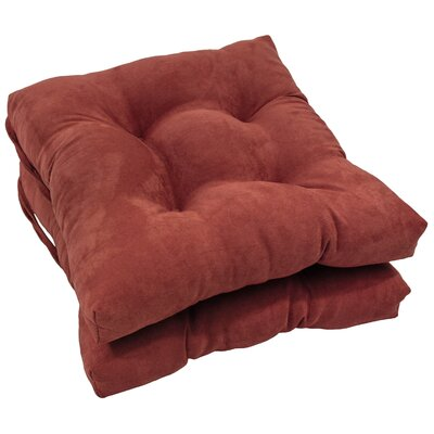 Dining Chair Cushion Color: Red Wine