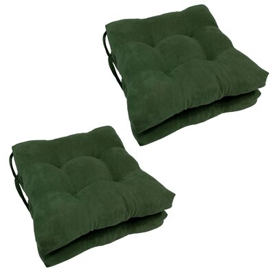 Outdoor Dining Chair Cushion Color: Hunter Green