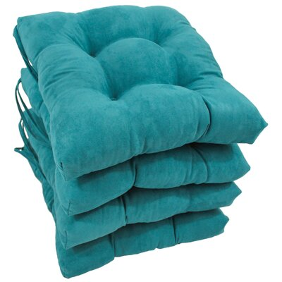 Outdoor Dining Chair Cushion Color: Aqua Blue