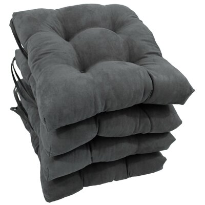 Outdoor Dining Chair Cushion Color: Grey