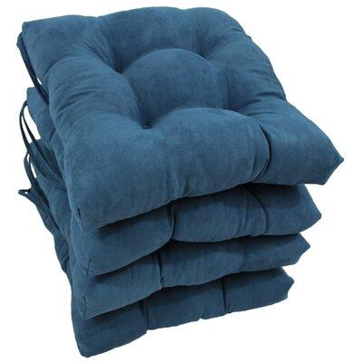 Outdoor Dining Chair Cushion Color: Indigo
