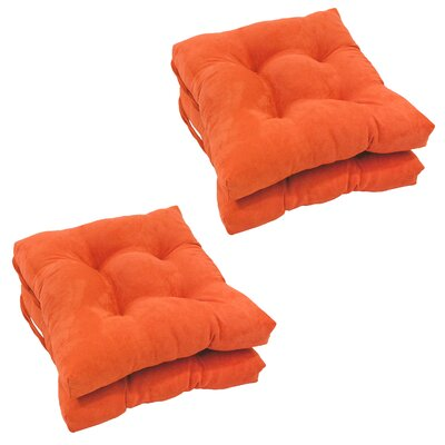 Outdoor Dining Chair Cushion Color: Tangerine Dream