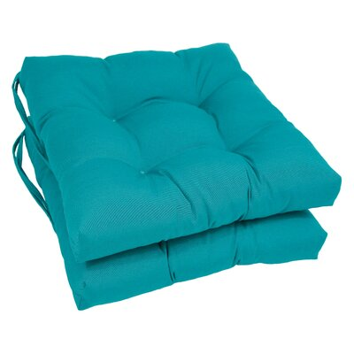 Dining Chair Cushion Color: Aqua Blue