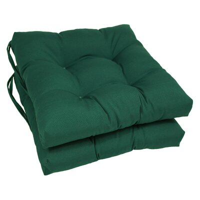 Dining Chair Cushion Color: Forest Green