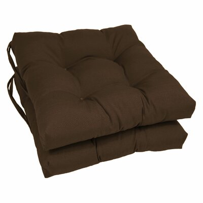 Dining Chair Cushion Color: Chocolate