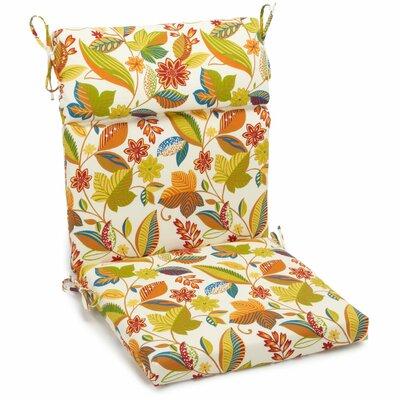Alenia Outdoor Adirondack Chair Cushion Size: 3.5 H x 22 W x 45 D, Fabric: Skyworks