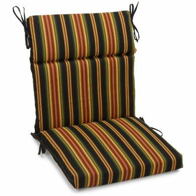Alenia Outdoor Adirondack Chair Cushion Size: 3.5 H x 22 W x 45 D, Fabric: Lyndhurst Raven