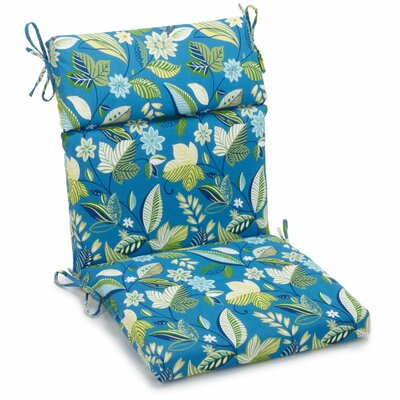Alenia Outdoor Adirondack Chair Cushion Size: 3.5 H x 22 W x 45 D, Fabric: Skyworks Caribbean